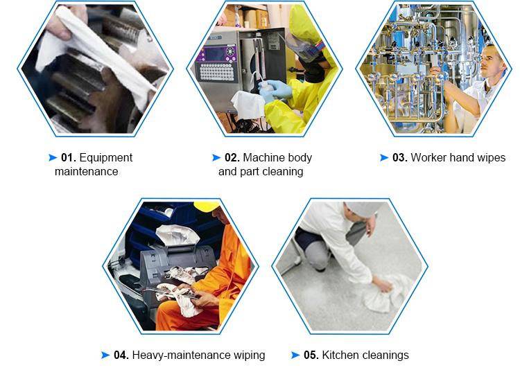 उच्च वजन Workhouse Nonwoven बहु प्रयोजन सफाई सामग्री