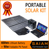 Portable energy pack solar power generator for camping