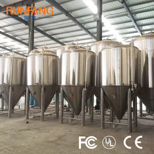 Turnkey Project 10 bbl Double-walled Insulated Stainless Steel Beer Brewery Conical Fermenter