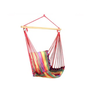 Outdoor Portable Canvas and wood Rod Folding Hammock Chair