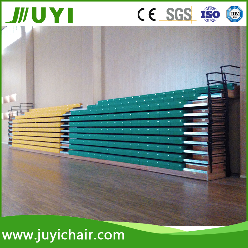Telescopic indoor bench bleacher retractable indoor plastic bleacher bench bleacher JY-750