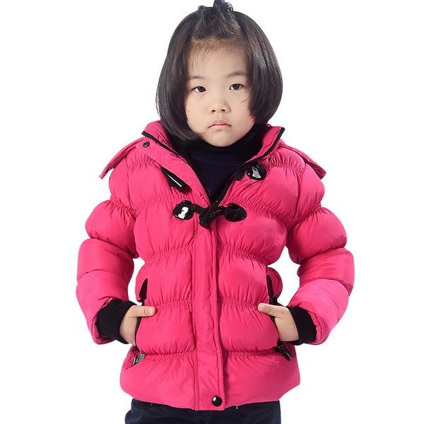 37f9f4d4a99f Get Quotations · Popular Style Girls Warm Hooded Down Coats Size 90-130 cm  Lantern Sleeve Children Slim