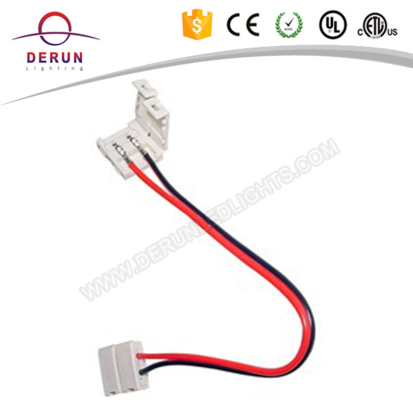2 pin 10mm for single color 5050 led strip adapter connector