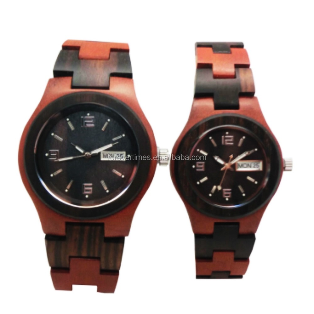 Newest fashion colorful vogue wood watches with date