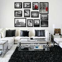 Wall Hanging Glass Painting With Art Black HD Print Canvas Painting Wall Pictures