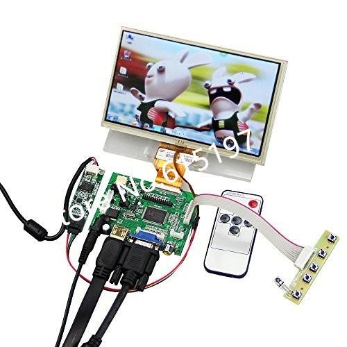 7 Polegadas Raspberry Pi Monitor de Tela de Toque LCD TFT Monitor com Kit  de Tela Sensível Ao Toque HDMI VGA Entrada Driver Board