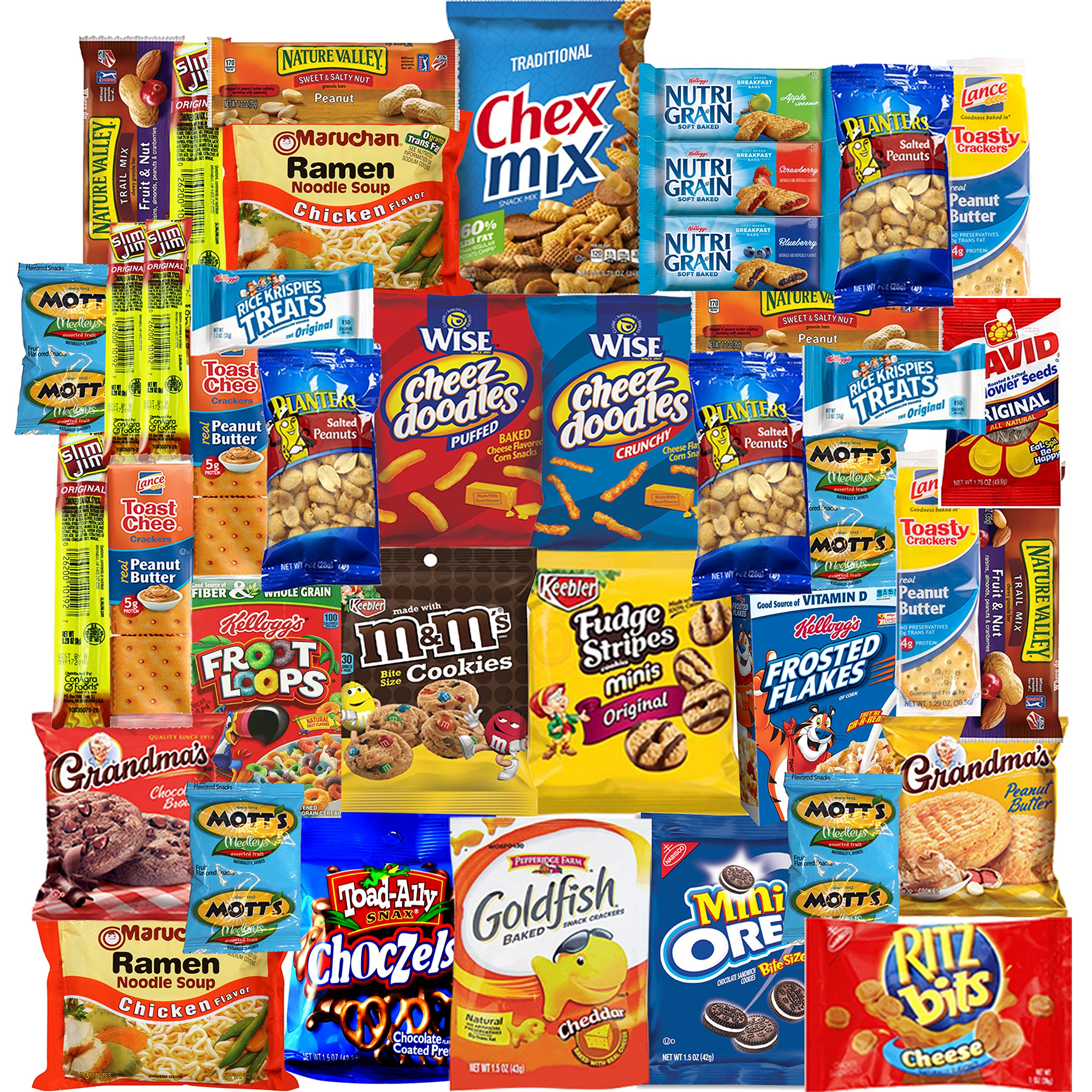 Ultimate Care Package Includes Chips, Cookies, Bars, Nuts & More (40 Count)