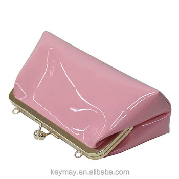 China supplier pink elegant clutch pu handbag evening party bag fashion pink clutch bag