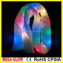 2016 new china factory led scarf fashional led scarf high quality comfortable light up pashmina scarf
