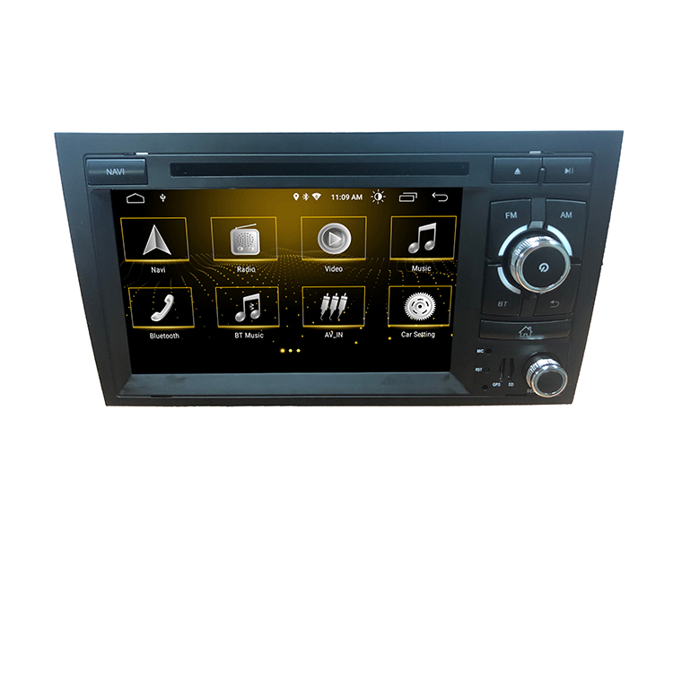 ZYCGOTEV Commercio All'ingrosso Autoradio Sistema Multimediale per Audi A4 S4 RS4 Wince 6.0 Wifi Bluetooth GPS 2 Din Lettore DVD
