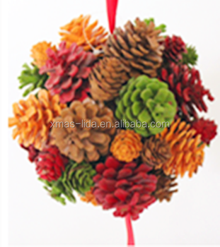 cool christmas flower wreath colorful pinecone wreath