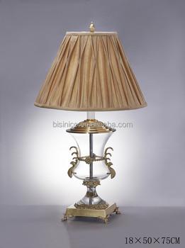 Antique Crystal U0026 Brass Table Lamp/ Table Lighting, Home Decorative Jar  Shape Desk Lamp