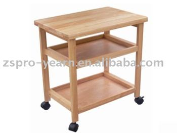 Rubber Wood Kitchen Service Trolley Cart With 3 Tiers 4 Casters For Kitchen  Cooking And Table Dining In Home Hotel Restaurant - Buy Kitchen Trolley ...
