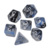 SMH Dice - Black Colored Swirled Nebula Polyhedral Dice Set in Board Game