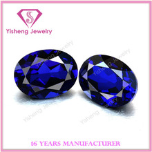 Factory Price Blue Sapphire Topaz #35 Synthetic Blue Corundum Ruby