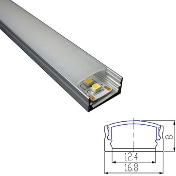 Customized Aluminum Extrusion Led Profiles Strips Lights Channel