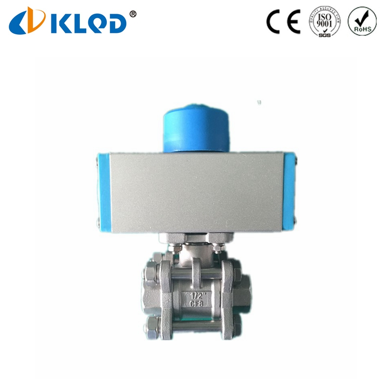 DN15 Pneumatic Quick Closing Valve Pneumatic Actuator Ball Valve