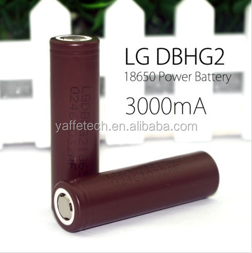 Latest Arrival 18650 lg g2 Battery 20a 18650 3.7v battery 20A 3000mah lg hg2 18650 battery