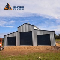 cheap high quality design prefabricated american light steel metal structure barn warehouse shed buildings kits prices