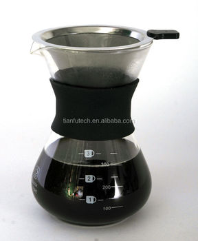 Easy Using Exquisite Manual Drip Glass Coffee Maker