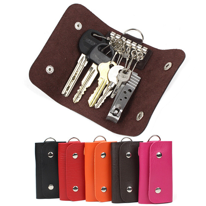 Fashion gifts Keys holder Organizer Manager patent leather Buckle key wallet case car keychain for Women