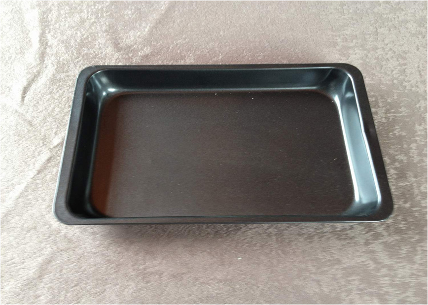 Cake or Bread Cookware Nonstick Oven Tray  Black Non Stick Aluminium Or Carbon Steel Baking Tray