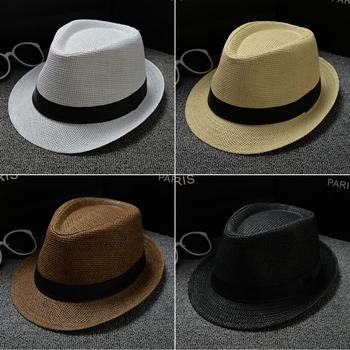 bf591e6f Fashion Men Jazz Caps Women Fedora Hat Summer Hats for Women Beach Floppy  Panama Sun Cap