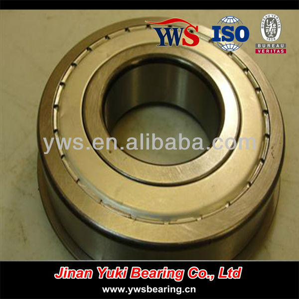 6313-2ZNR chrome steel yuki brand with shields and snap ring