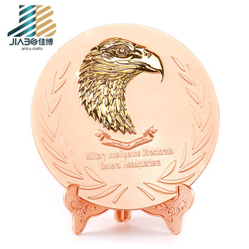 High-end custom Decoration Award silver plate for souvenir