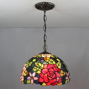 coffee bar hotel handmade glass lamp in 12 inch tiffany ceiling lamp for the indoor decoration