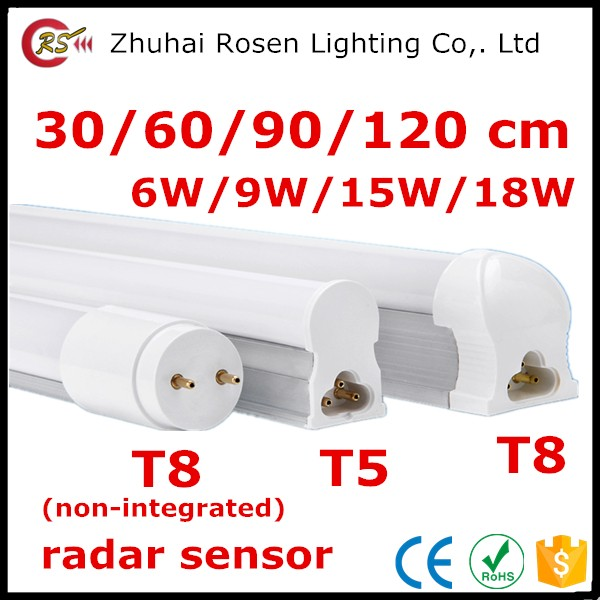 30cm 60cm 90cm 120cm 150cm 6w 9w 10w 15w 18w 20w dimmable radar sensor PIR emergency RGB T5 T8 2ft 3ft 4ft led tube light SKD