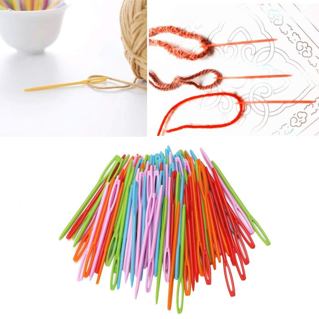 Homyl 60Pcs Large-Eye Blunt Needles wool Yarn Tapestry darning Embroidery Knitting Needles Sewing Needles Size 22 24 26