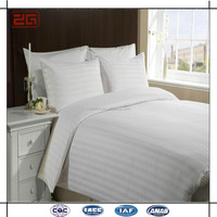 Wholesale Cotton Sateen Stripe Fabric Hotel King Duvet Cover Set Sale