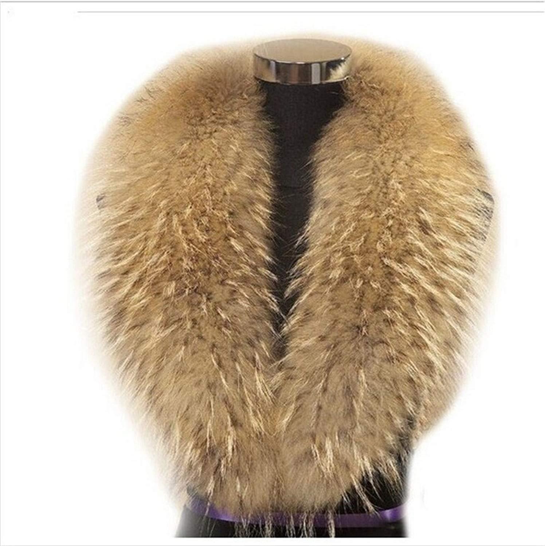 d68d5f65da0 Get Quotations · Gegefur New Large Long Detachable Natural Fox Fur Collar  for Winter