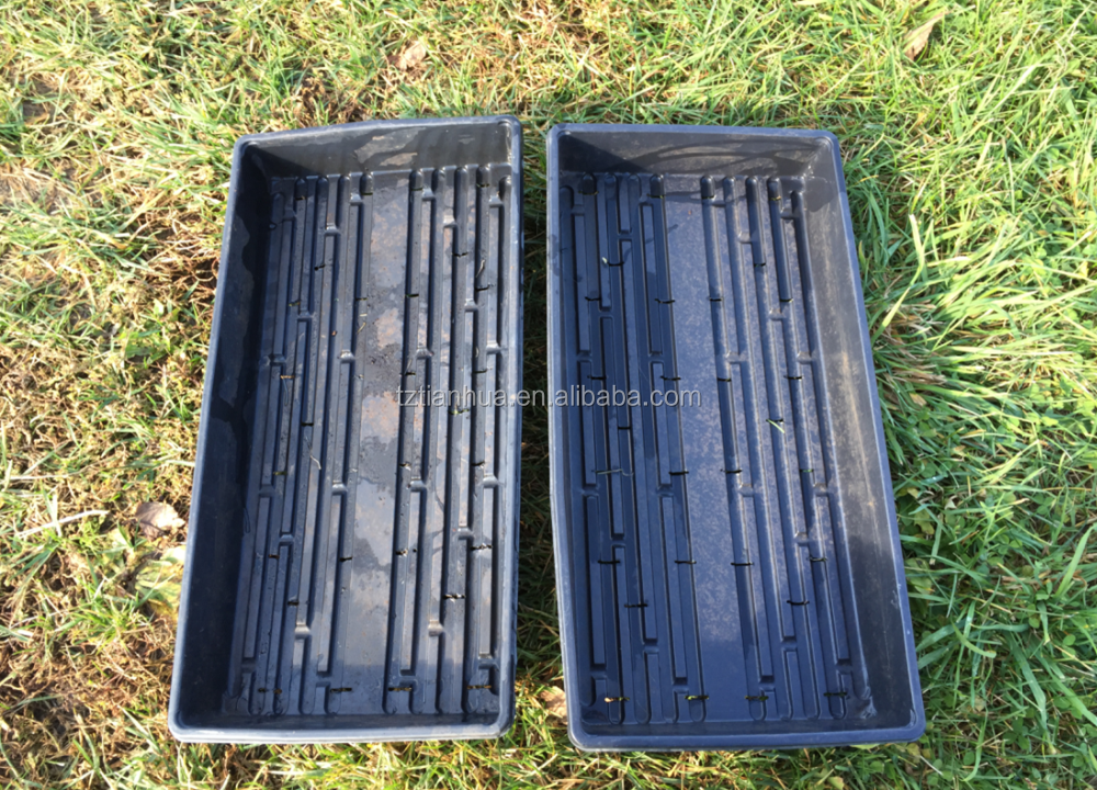 Heavy Duty GrowingNursery Tray or Flat for Greenhouse Seed and Sprout Growing, hydroponic fodder tray