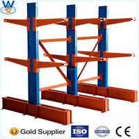 Heavy duty warehouse steel Cantilever Racking,Storage racking system for long objects
