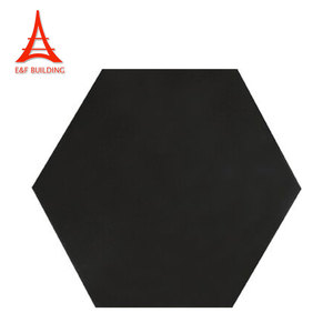 Eiffel modern interior waterproof glazed kitchen wall tiles black hexagon floor tile