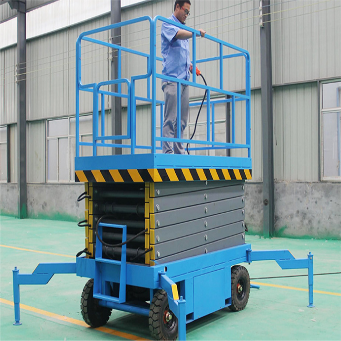 DC Powered Self-propelled Electric Aerial Scissor Lift Platform for 6-12m