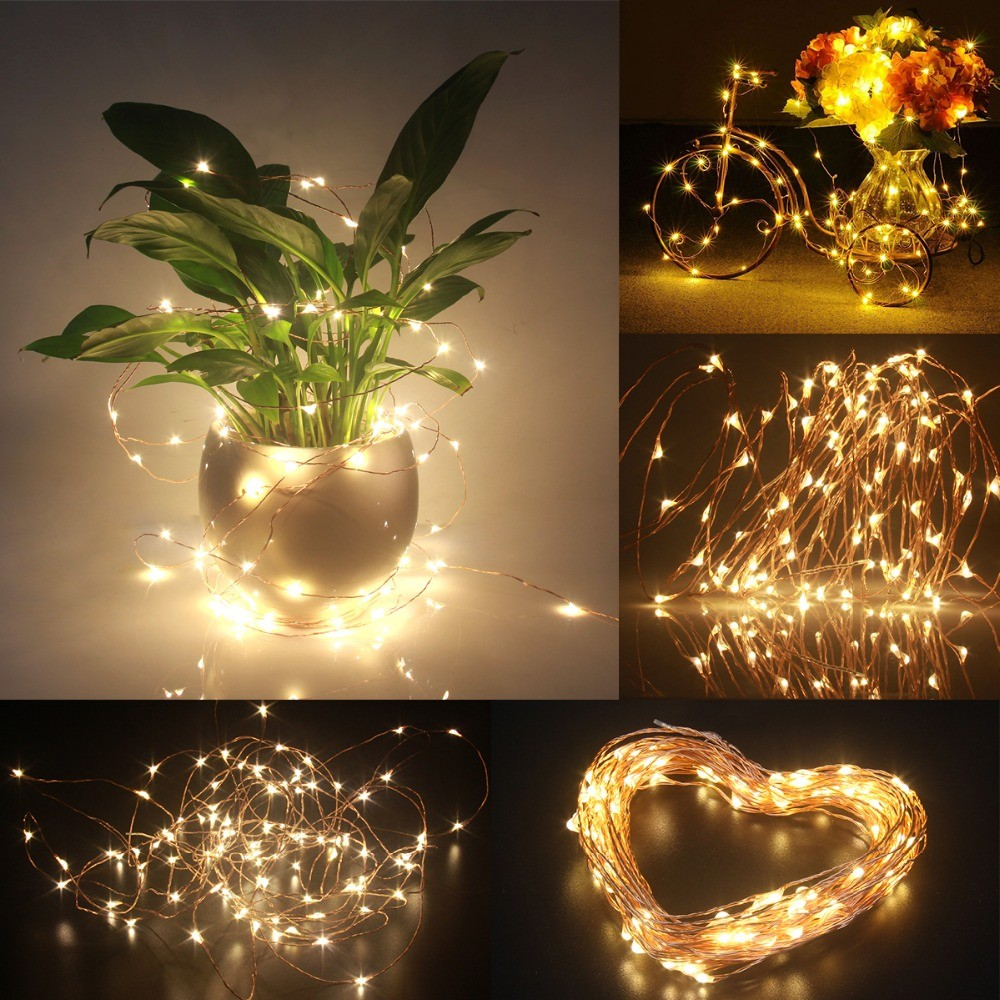 Christmas ornaments 2016 12 volt copper led wire fairy for Led christmas decorations