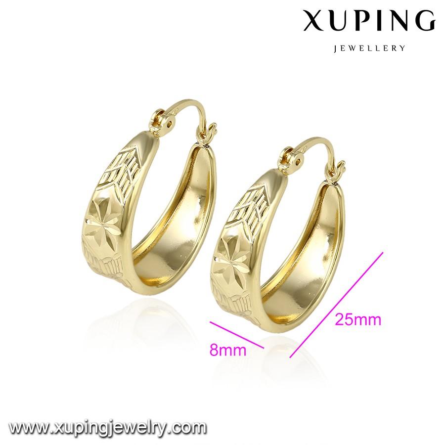 92994 Xuping 3 Gram Gold Beautiful Designed Earring,14k Gold Color ...