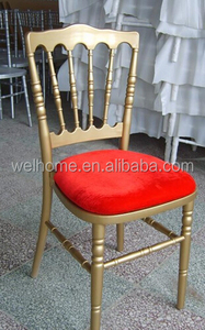 gold napoleon chair with seat pad