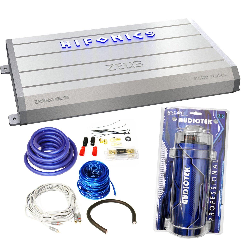 Buy Hifonics ZRX2416 1D 2400 Watt RMS Class D Car Amplifier+