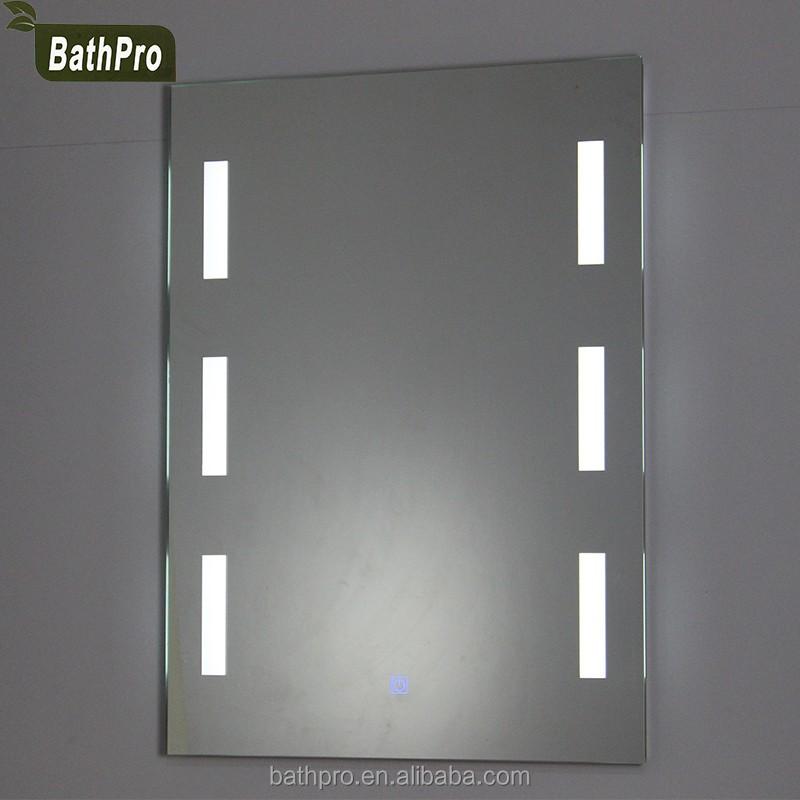 tipo iluminado espejos de bao sin marco montado en la pared espejo de aumento con luz