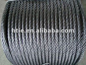 6X37 galvanized steel wire rope 6~120mm, used for oilfield, construction, maritime, petrochemical , wire rope sling