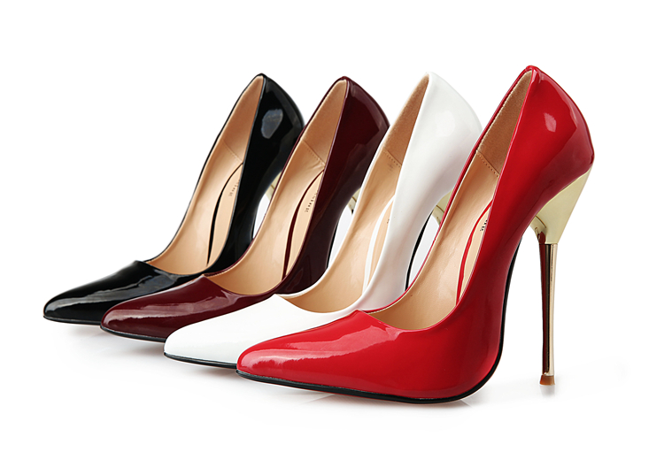 bd3be8681685 Get Quotations · Big 40-46 47 48 49 Women black Pumps Sexy Red Bottom  Pointed Toe