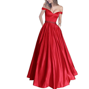 New Luxury Formal party dress ladies evening gown for matured women Sexy Evening Dress