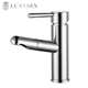 Modern deck mounted ceramic cartridge pull out basin faucet beauty salon sink faucet