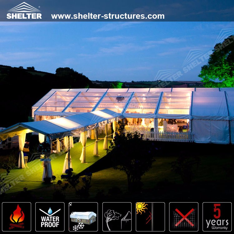 25*60m Outdoor Big Clear Span Tent Transparent Event Tent Commercial Luxury Wedding Marquee Tents for Sale