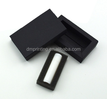 Black Elegant Drawer Packaging Box with Foam insert