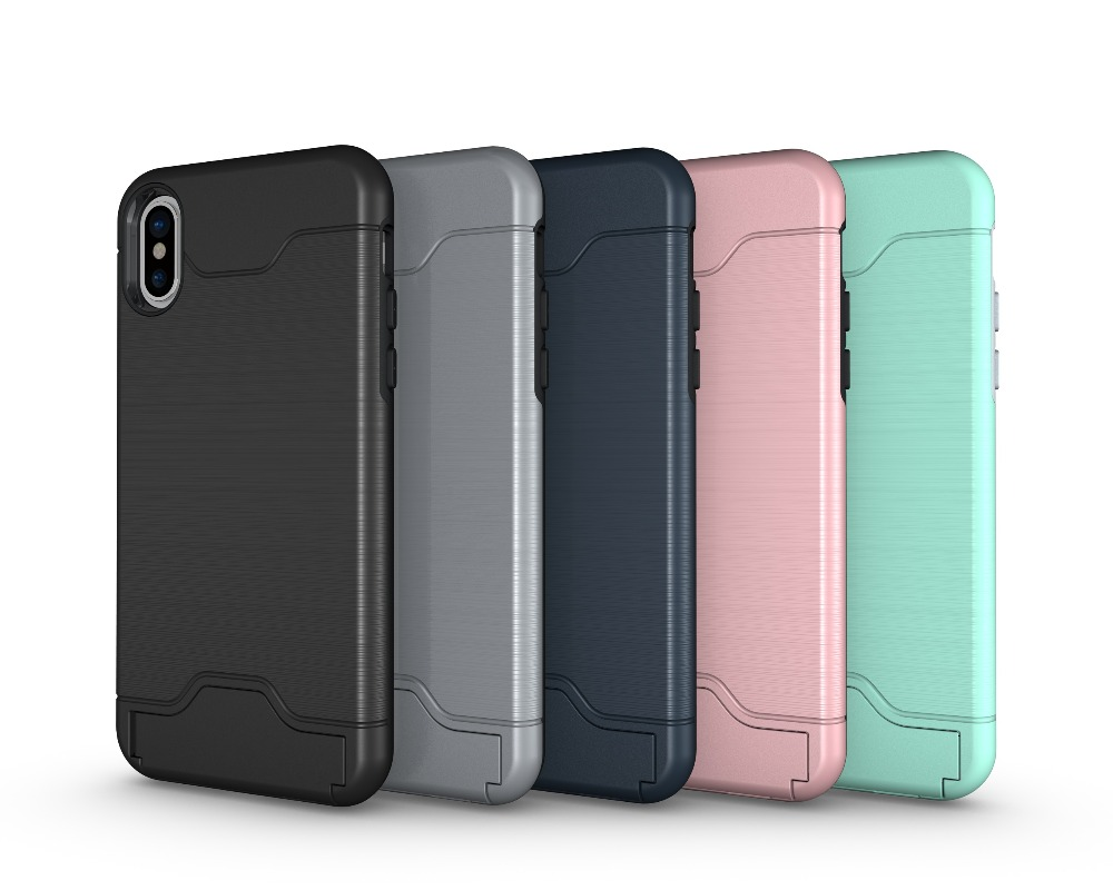 best sneakers 059b3 ea5da Non Slip Tpu Pc Credit Card Slot Holder Phone Case Back Cover For Moto Z2  Play E4 X G6 G5s Plus X4 - Buy Card Slots Phone Case For Moto Z2,Rugged ...